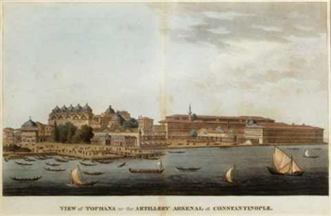 view of tophana or the military arsenal at constantinople by antoine ignace melling
