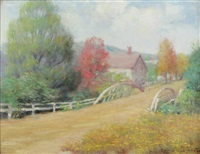 country road with bridge by anna lee stacey