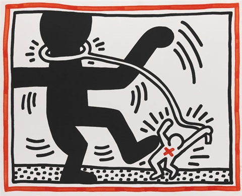 untitled 2 pl2 from free south africa by keith haring