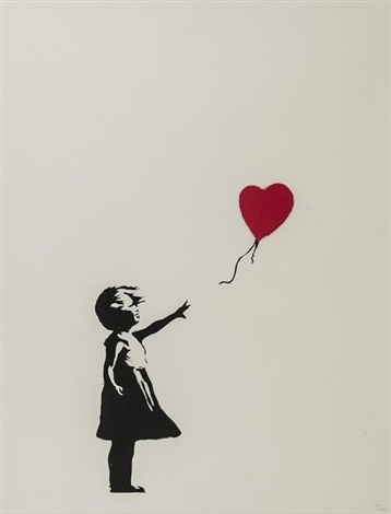 girl and balloon by banksy