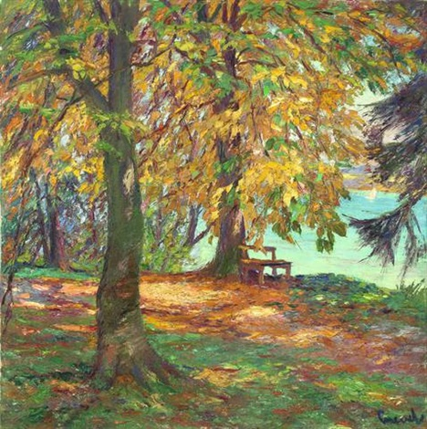 herbstlandschaft by edward cucuel