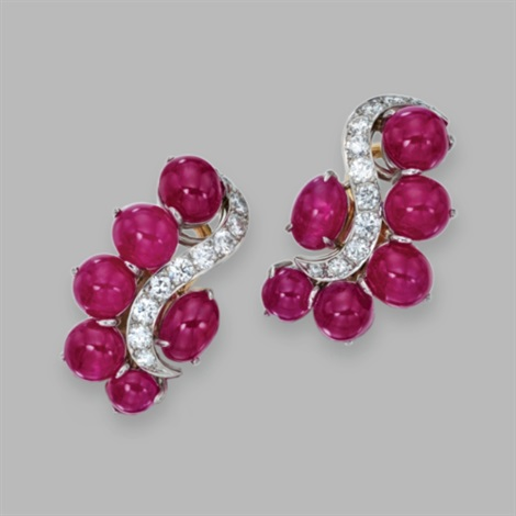 pair of earclips by aletto brothers (co.)