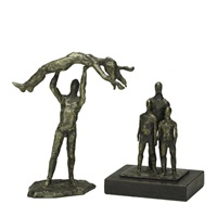 untitled (acrobats) (2 works) by nathan cabot hale
