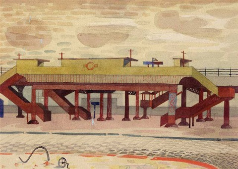 old elevated railway liverpool by mary adshead