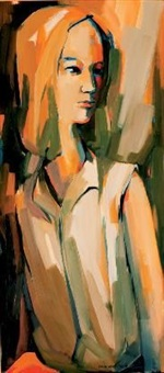 portrait of a girl by nico van rensburg