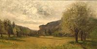 paysage aux saules by joseph huvey