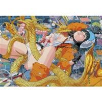 the giant member fuji vs king gidora by makoto aida