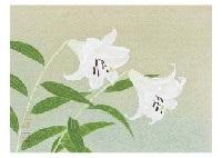 bamboo lily by okazaki tadao