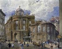 das alte k. k. hoftheater und die hofburg mit staffage by robert raschka