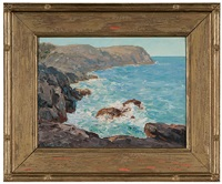 coast of monhegan isle by winfield scott clime