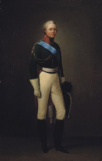 portrait of alexander i by adolphe ignatievich ladurner