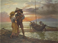 sunset in manila by fernando cueto amorsolo