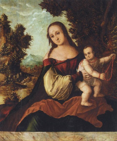 the virgin and child by danube school 16