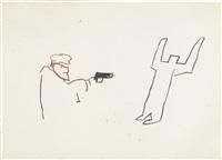 untitled (gun) by jean-michel basquiat