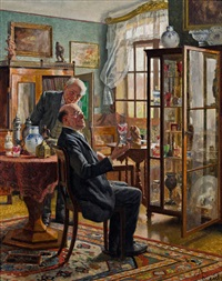 die beiden kunstsammler by adolf reich