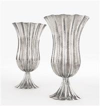 pair of vases by josef hoffmann