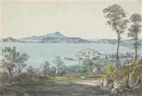 a view of pozzuoli with ischia in the distance by johann nepomuk rauch