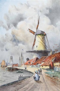 view of papendrecht by l. van staaten