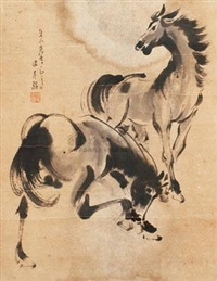 双马 (two horses) by liang youming