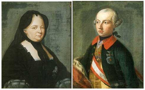 Portrait de lImpératrice Marie-Thérèse Portrait de lEmpereur Joseph ...