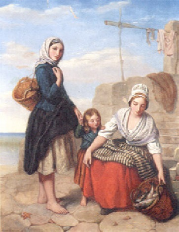 the fisherwomen by urbain james bouvier