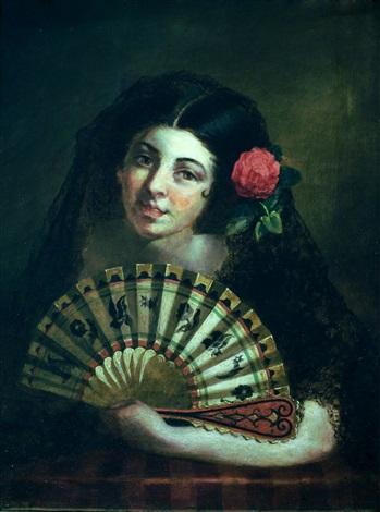 retrato de chica española by john phillip