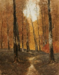 path into the woods by william edwin atkinson