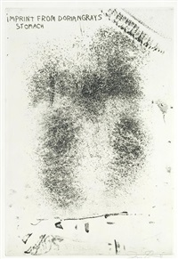 imprint from dorian grey's stomach by jim dine