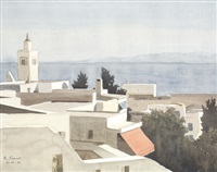 minaret de la mosquée, place halfaouine by louise marie peyre