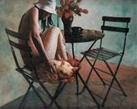 少女与猫 by xiang chunsheng