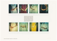 lessons in posing subjects: standard pose #7 (hands touching)(8 works from lessons in posing) by robert heinecken