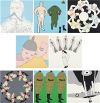 panoply: eight silkscreen prints inspired by the splendours of the great war portfolio (set of 8) by john wesley
