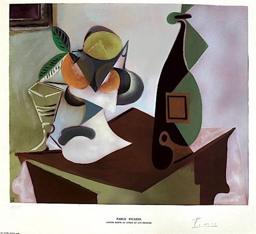 Nature morte au citron et aux oranges by Pablo Picasso on artnet