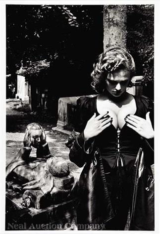 pere lachaise tomb of talma paris by helmut newton