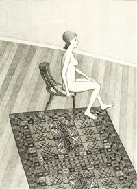 nude in profile by john brack