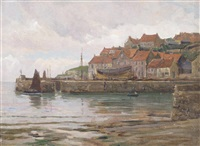 pittenween, a fifeshire fishing village by frederick golden short