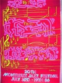 montreux by keith haring and andy warhol
