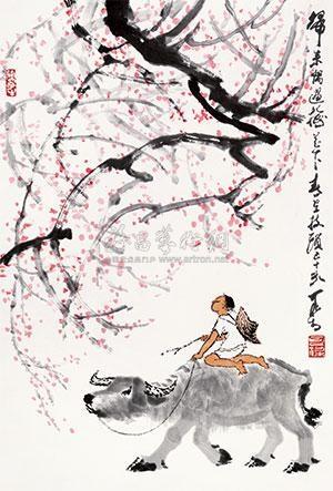 梅花牧牛 by li keran