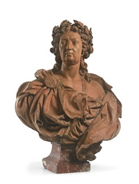 bust of louis xv as apollo by lambert-sigisbert (l'aine) adam