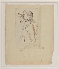 l'empereur napoléon 1er regardant dans une lunette. sainte-hélène 1815 by denzil o. ibbetson