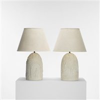 table lamps (pair) by edgar miller