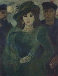 kvinne i gronn habitt by bjorn smith-hald