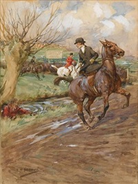 20th century fox hunting scene by george denholm armour