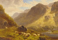 borrowdale, cumberland by william davies
