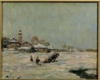 paesaggio innevato by ivan karpov