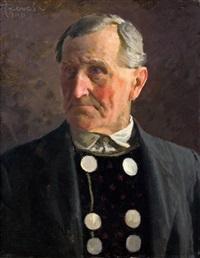 herrenporträt by adolf reich