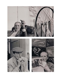 marcel duchamp (3 works) by henri cartier-bresson