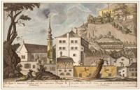 die kleine s. johannis kirchen auf der capuciner stiegen zu salzburg by franz anton danreiter