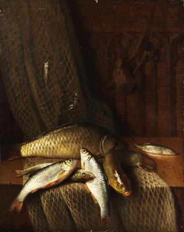 stilleben mit flussfischen by claudius pizetta