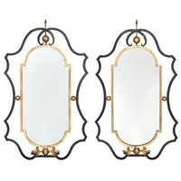 mirrors (pair) by gilbert poillerat